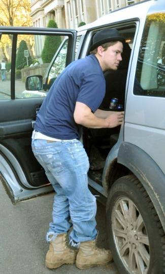 channing tatum wearing jeans - ag protege jeans 25 years