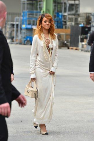 rihanna dress cardigan in paris