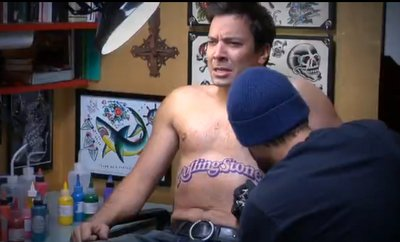 Jimmy fallon shirtless Rolling Stone Tattoo2