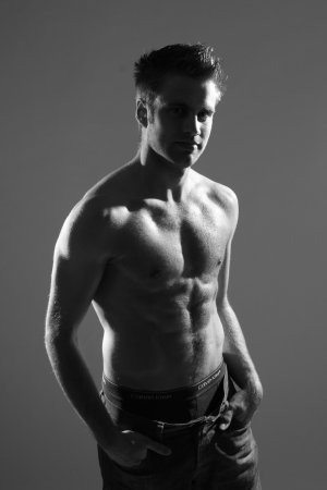 Joachim Persson shirtless underwear - danish badminton player