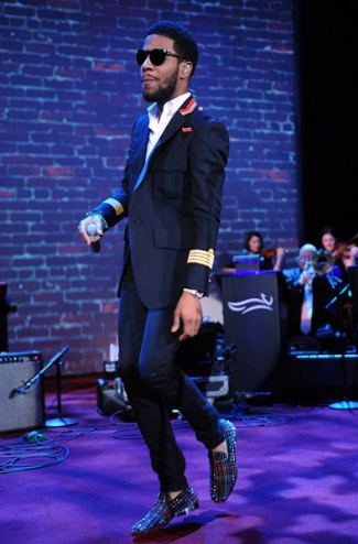 Kid Cudi wears Christian Louboutin Rollerball Loafers