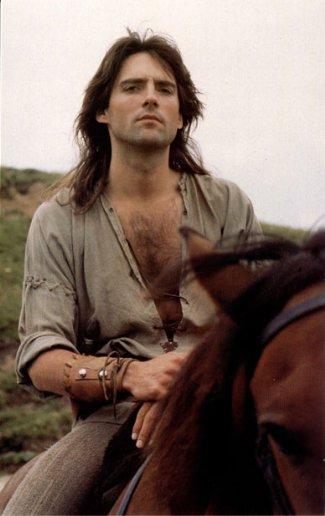 Michael Praed - sexy man riding horse