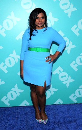 Mindy Kaling Jonathan Saunders dress