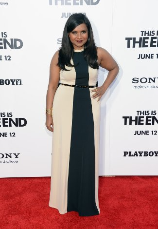 Mindy Kaling Plus Size fashion - Kaelen High Neck Gown