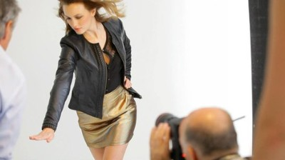 Naf Naf Fall Winter Leather Jacket for women - leighton meester