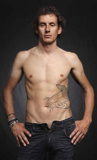 Pippo Pozzato shirtless cyclist