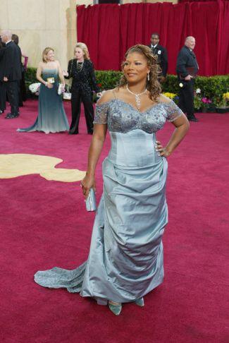 Queen Latifah wears Bradley Bayou for Halston 2003 oscars