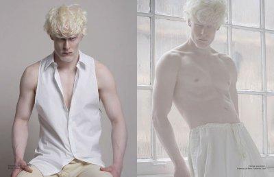 albino male models - stephen thompson shirtless