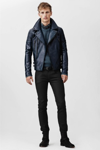 belstaff leather jacket - spring 2014