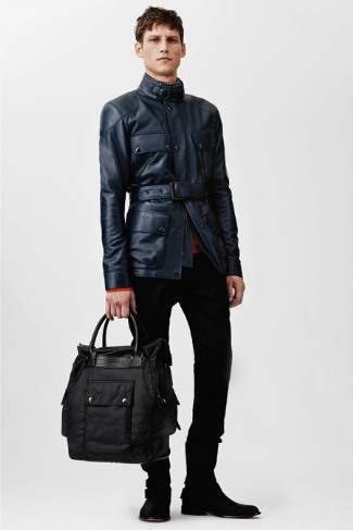belstaff military style leather jacket 2014