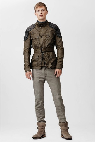 belstaff moto leather jacket for men - sexy