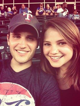 brandon chase - girlfriend marijke - rangers game baseball