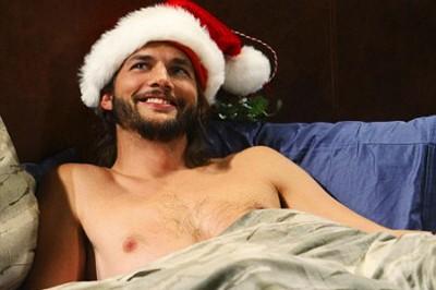 celebrity sexy santa - ashton kutcher