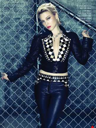 chanel resort 2013-2014 leather pants for women - lea seydoux