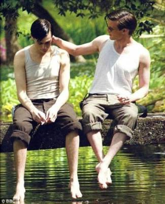 douglas booth and matt smith - gay lovers in christopher and his kind