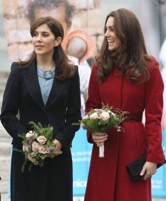duchess catherine fashion - LK Bennett Amy Burgundy Coat