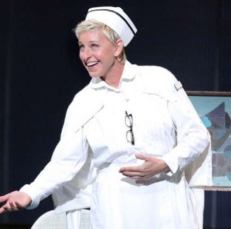 ellen degeneres as nurse in broadway play promises2 with kristen chenoweth