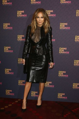 winter leather jackets for women - jennifer lopez in gucci snakeskin