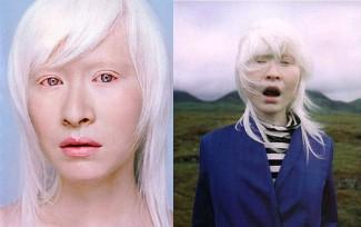 famous albinos - connie chu - female model
