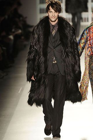 fur coats for men - etro fall winter 2009