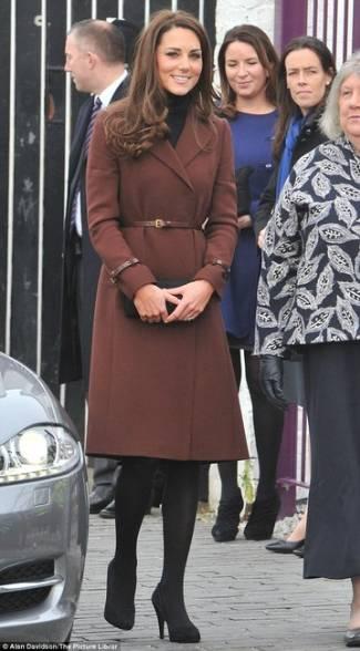 kate middleton autumn coats - hobbs unlimited celeste flared coat