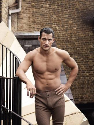 latest long johns underwear for men - David Gandy by Paul Wetherell for 10 Men Magazine - dolce gabbana