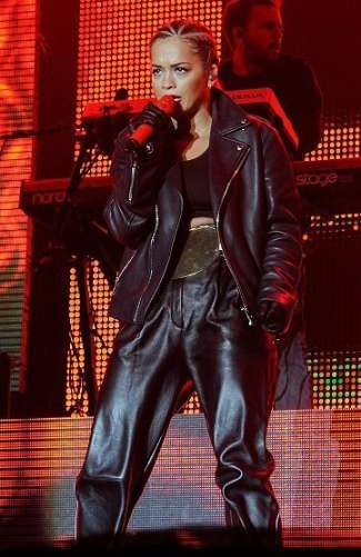 leather pants for girls 2013-2014 - violet leather pants seen on rita ora