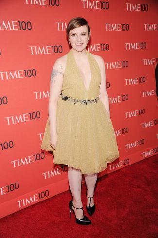lena dunham red carpet dress - saint laurent 2013
