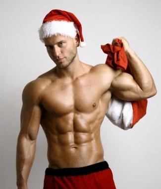 male model as sexy santa claus - joao santos