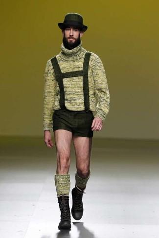 male model in lederhosen - carlos diez fall winter 2012