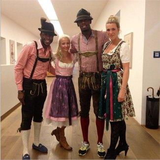 mens lederhosen - usain bolt - 180th Oktoberfest festival at Hippodrom dent in Munich