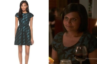 mindy kaling ALICE by temperly jacquard dress on mindy project