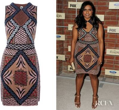mindy kaling style - M Missoni patterned knitted dress
