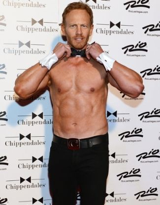 older men with washboard abs Ian Ziering 49 years old