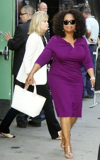 oprah curvy dress - Oprah Winfrey and Escada Long-Sleeve Donde Jersey Dress