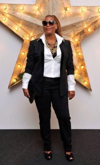 queen latifah dolce and gabbana trouser suit in net a porter party