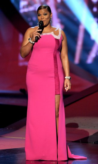 queen latifah gorgeous dress - georges chakra gown - peoples choice awards 2011