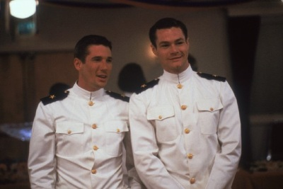 richard gere and david keith in an officer and a gentleman