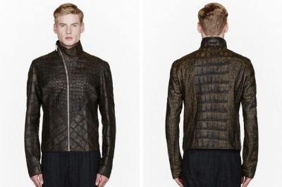 rick owens alligator kangaroo leather jacket