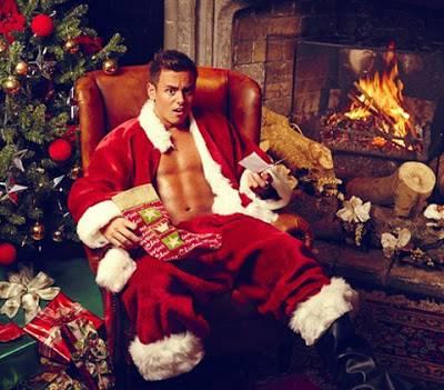 sexy santa - tom daley - no shirt