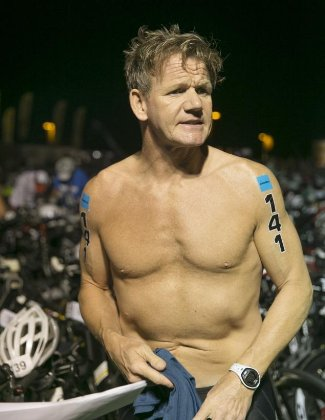shirtless chefs - gordon ramsay - 2013 in hawaii - ironman-world-championship-triathlon