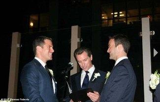 thomas roberts wedding to boyfriend Patrick Abner - by gavin newsom