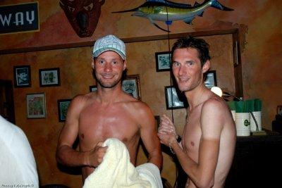 tom boonen and Frank Schleck shirtless