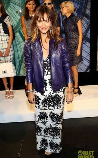 womens winter leather jackets - rashida jones wearing charlotte ronson