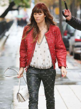 womens leather pants 2013 - isabel marant - seen on jessica biel