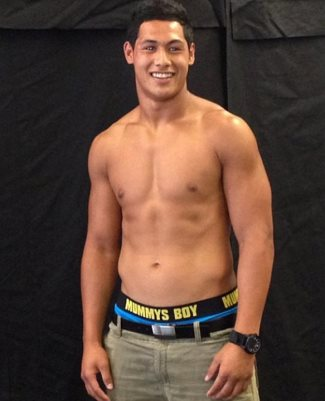 Roger Tuivasa-Scheck - underwear by mummys boy - Sydney Roosters of the National Rugby League
