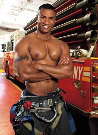 black firefighters calendar - fdny 2013 - jacques terlonge - african american hunks