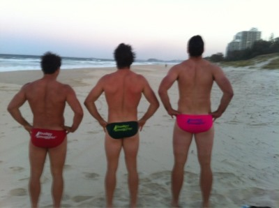dave dennis in speedo center - with nick phipps and adam ashley cooper