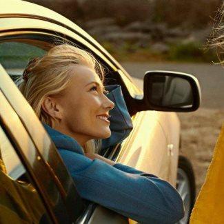 iris bjork johannesdottir modeling photos - in car