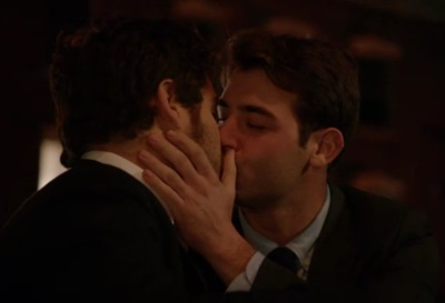 james wolk gay kiss with adam pally on abcs happy endings